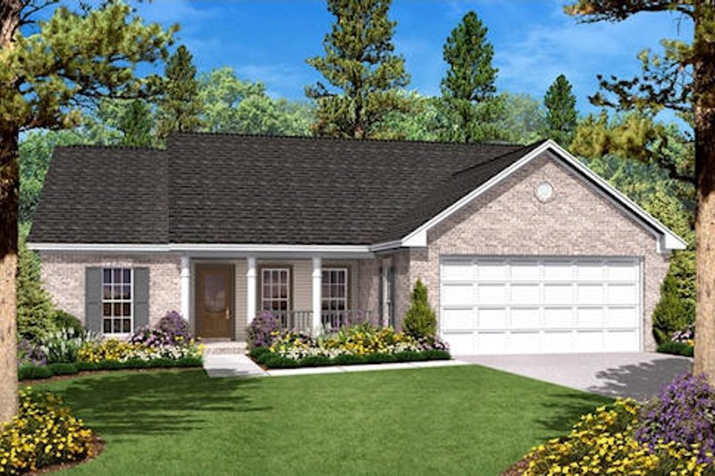 Ranch Exterior - Front Elevation Plan #430-10
