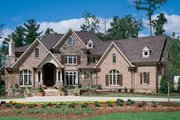 European Style House Plan - 4 Beds 4.5 Baths 4376 Sq/Ft Plan #54-111 Exterior - Front Elevation