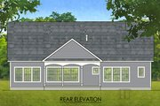 Ranch Style House Plan - 2 Beds 2 Baths 1826 Sq/Ft Plan #1010-207 Exterior - Rear Elevation