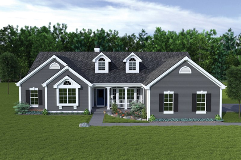 Dream House Plan - Traditional Exterior - Front Elevation Plan #57-318
