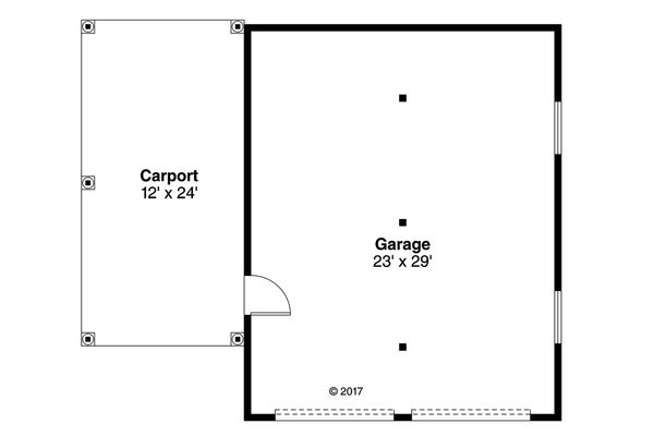 Craftsman Floor Plan - Main Floor Plan Plan #124-1050