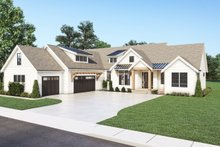 Dream House Plan - Farmhouse Exterior - Front Elevation Plan #1070-129