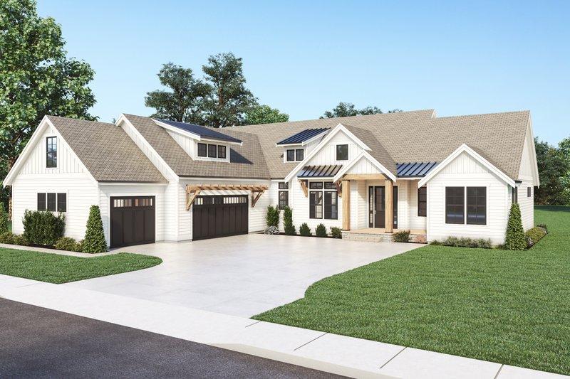 Home Plan - Farmhouse Exterior - Front Elevation Plan #1070-129