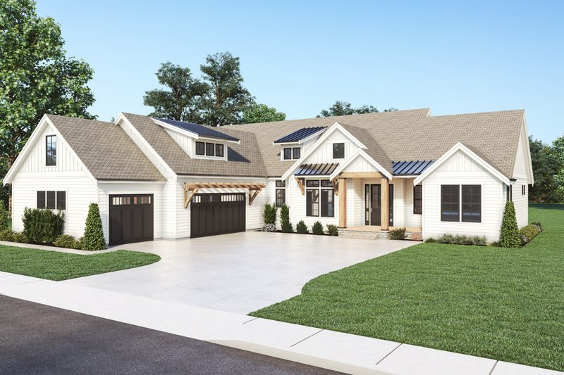 Architectural House Design - Farmhouse Exterior - Front Elevation Plan #1070-129