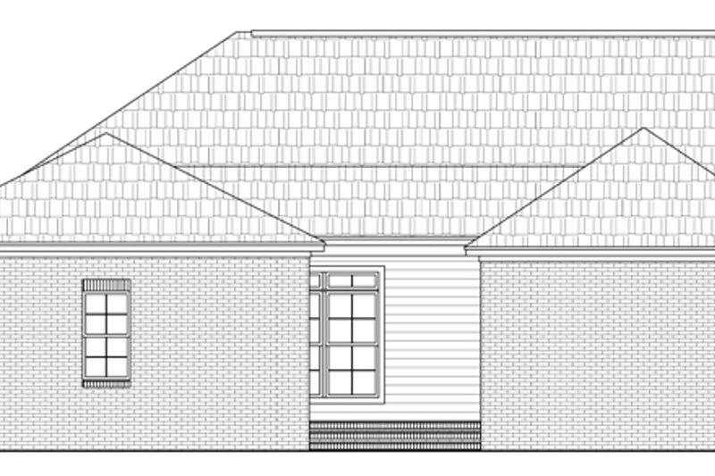 Traditional Exterior - Rear Elevation Plan #21-231 - Houseplans.com