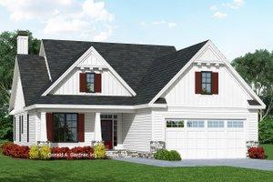 Cottage Exterior - Front Elevation Plan #929-1092