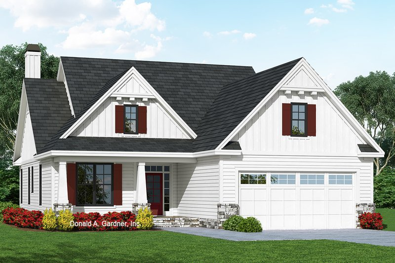Cottage Exterior - Front Elevation Plan #929-1092