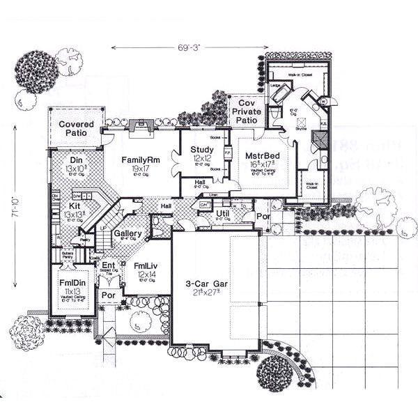 European Floor Plan - Main Floor Plan #310-940