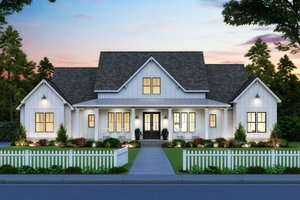 House Plan Design - Farmhouse Exterior - Front Elevation Plan #1074-24