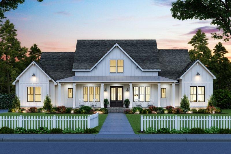 Architectural House Design - Farmhouse Exterior - Front Elevation Plan #1074-24