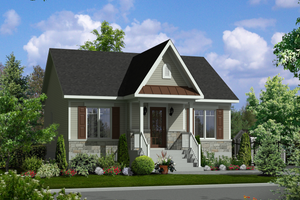 Country Exterior - Front Elevation Plan #25-4594