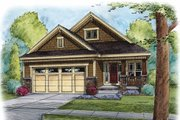 Craftsman Style House Plan - 3 Beds 2 Baths 1929 Sq/Ft Plan #20-2259 Exterior - Front Elevation