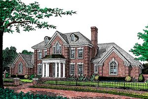 Colonial Exterior - Front Elevation Plan #310-952