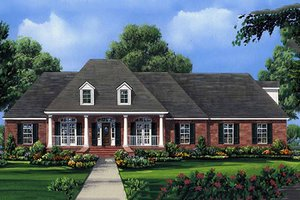 European Exterior - Front Elevation Plan #21-202