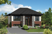 Dream House Plan - Contemporary Exterior - Front Elevation Plan #25-4264