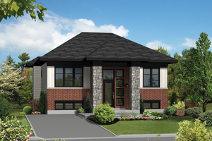House Plan Design - Contemporary Exterior - Front Elevation Plan #25-4264