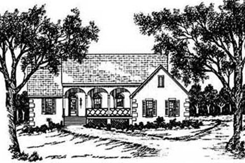European Exterior - Front Elevation Plan #36-123