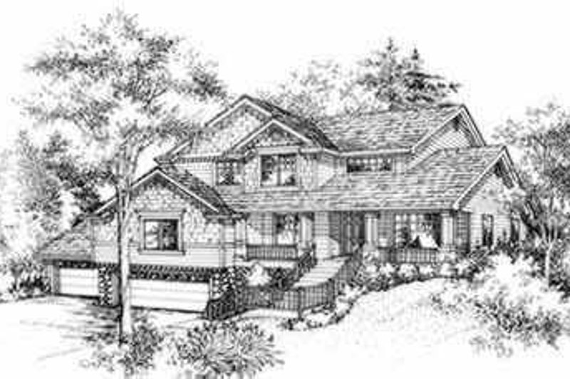 Traditional Style House Plan - 4 Beds 2.5 Baths 3067 Sq/Ft Plan #78-106 Exterior - Front Elevation