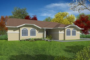 Mediterranean Exterior - Front Elevation Plan #437-10