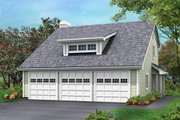 Cottage Style House Plan - 2 Beds 1.5 Baths 1005 Sq/Ft Plan #57-350