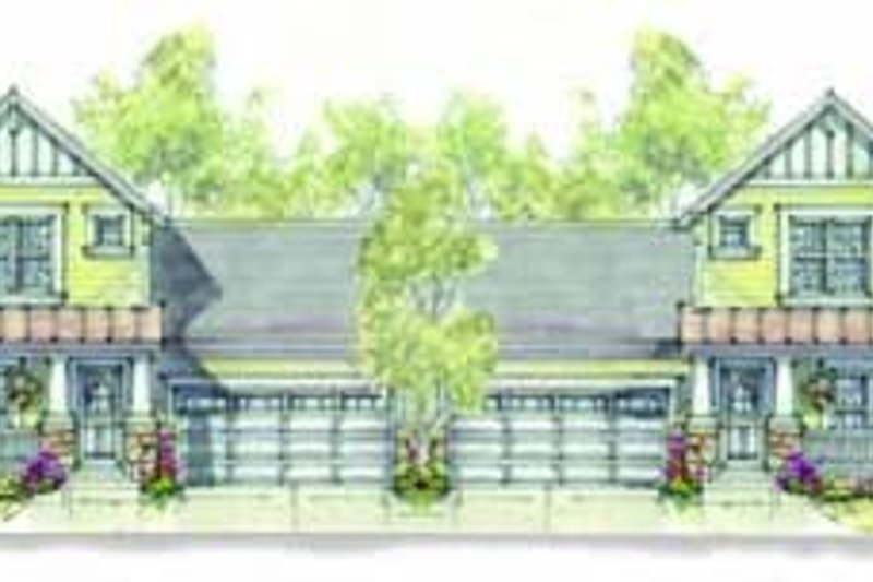 Cottage Exterior - Front Elevation Plan #20-1345