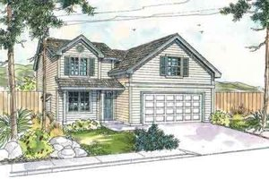 House Plan Design - Farmhouse Exterior - Front Elevation Plan #124-538