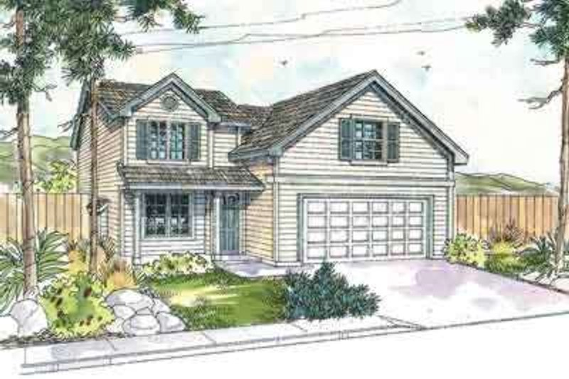 Dream House Plan - Farmhouse Exterior - Front Elevation Plan #124-538