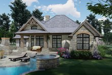 House Plan Design - Craftsman Exterior - Rear Elevation Plan #120-171