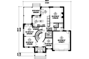 Traditional Style House Plan - 4 Beds 2 Baths 4122 Sq/Ft Plan #25-4632 Floor Plan - Main Floor Plan