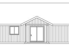 Ranch Exterior - Rear Elevation Plan #124-769