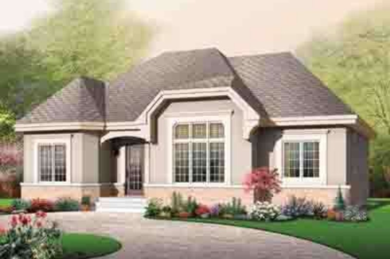 European Exterior - Front Elevation Plan #23-639 - Houseplans.com