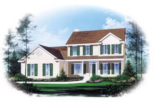 Traditional Exterior - Front Elevation Plan #22-203