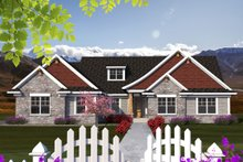 Ranch Exterior - Front Elevation Plan #70-1168