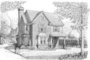 Colonial Style House Plan - 3 Beds 2.5 Baths 1854 Sq/Ft Plan #410-310