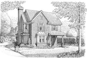 Colonial Exterior - Front Elevation Plan #410-310