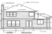 Prairie Style House Plan - 4 Beds 2.5 Baths 2937 Sq/Ft Plan #94-205 Exterior - Rear Elevation
