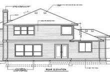 Prairie Exterior - Rear Elevation Plan #94-205