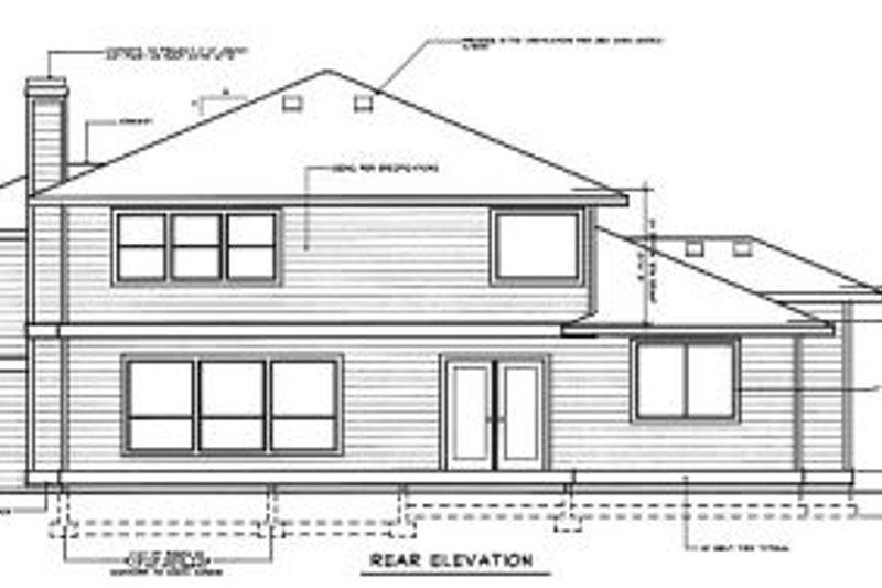 Exterior - Rear Elevation Plan #94-205 - Houseplans.com