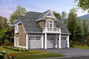 Cottage Exterior - Front Elevation Plan #132-189