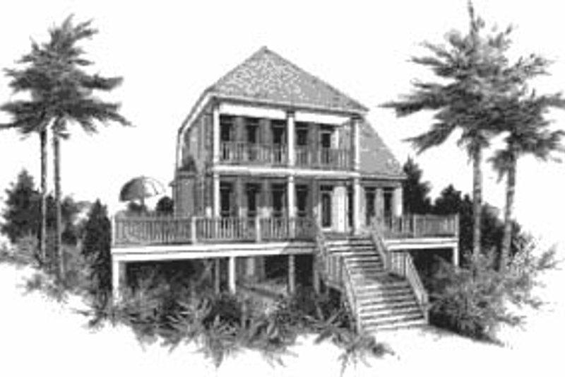 Beach Style House Plan - 3 Beds 2 Baths 2601 Sq/Ft Plan #37-211