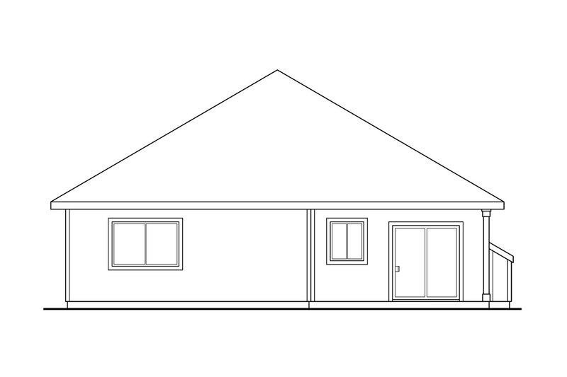 Exterior - Rear Elevation Plan #124-334 - Houseplans.com