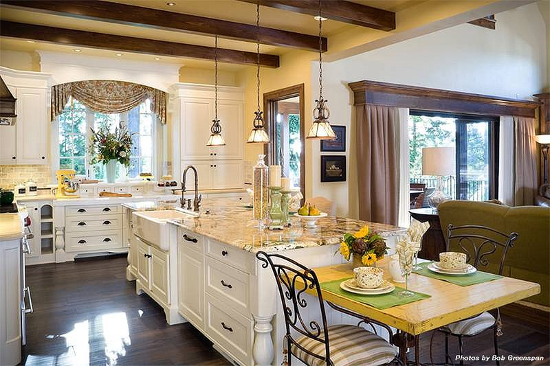 Kitchen - 4000 square foot European home