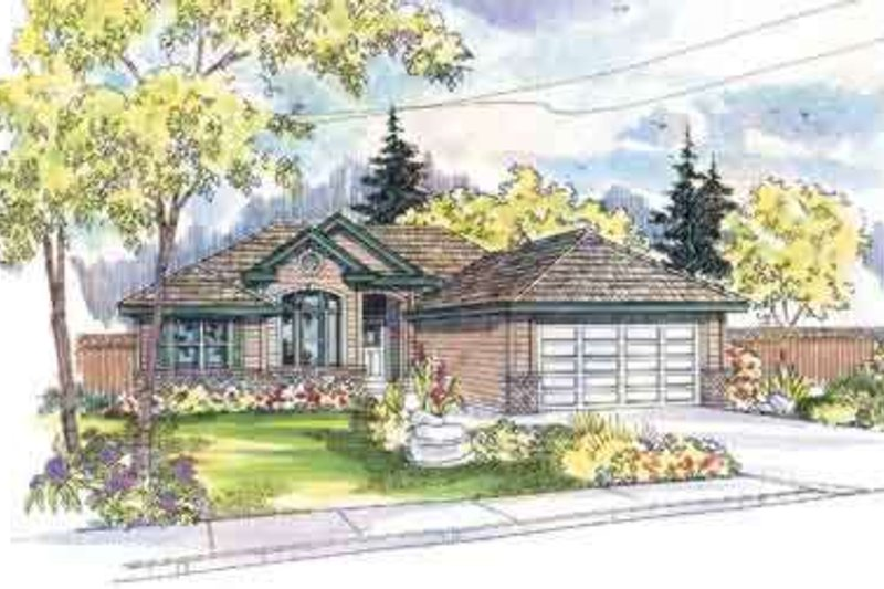 Modern Exterior - Front Elevation Plan #124-478