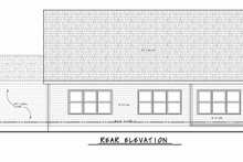House Blueprint - Traditional Exterior - Rear Elevation Plan #20-2425