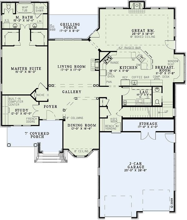European Floor Plan - Main Floor Plan Plan #17-2447
