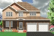 Traditional Style House Plan - 4 Beds 3.5 Baths 2829 Sq/Ft Plan #414-123 Exterior - Front Elevation