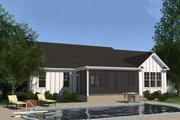 Ranch Style House Plan - 4 Beds 3 Baths 2565 Sq/Ft Plan #1071-13 Exterior - Rear Elevation