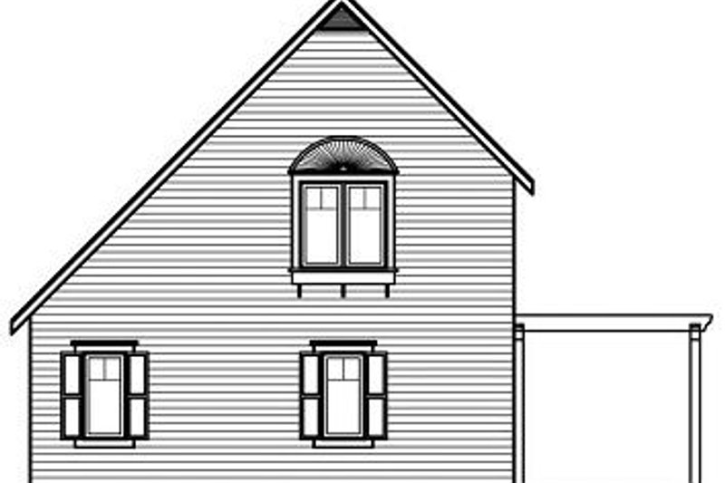 Traditional Exterior - Rear Elevation Plan #23-867 - Houseplans.com