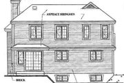 Traditional Style House Plan - 3 Beds 2.5 Baths 1661 Sq/Ft Plan #23-209 Exterior - Rear Elevation