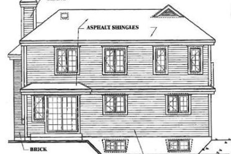 Traditional Exterior - Rear Elevation Plan #23-209 - Houseplans.com